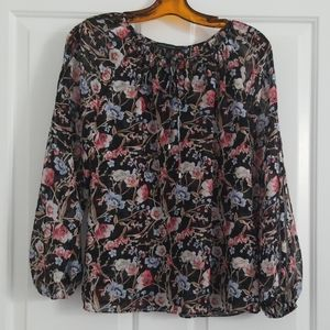 White House Black Market Long Sleeve Blouse